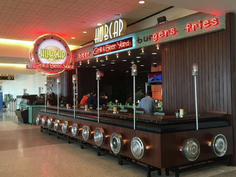IAH: Terminal A: Hubcap Grill & Beer YardBurgers  Where: gate A26  Hours: 4 a.m. to 10 p.m. Photo: Houston Airport System