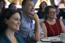 Juan Carlos Hernandez, from Accion, attends a conference for self-employed entrepreneurs and on-demand workers in San Francisco, Calif. on Wednesday, Jan. 18, 2017.