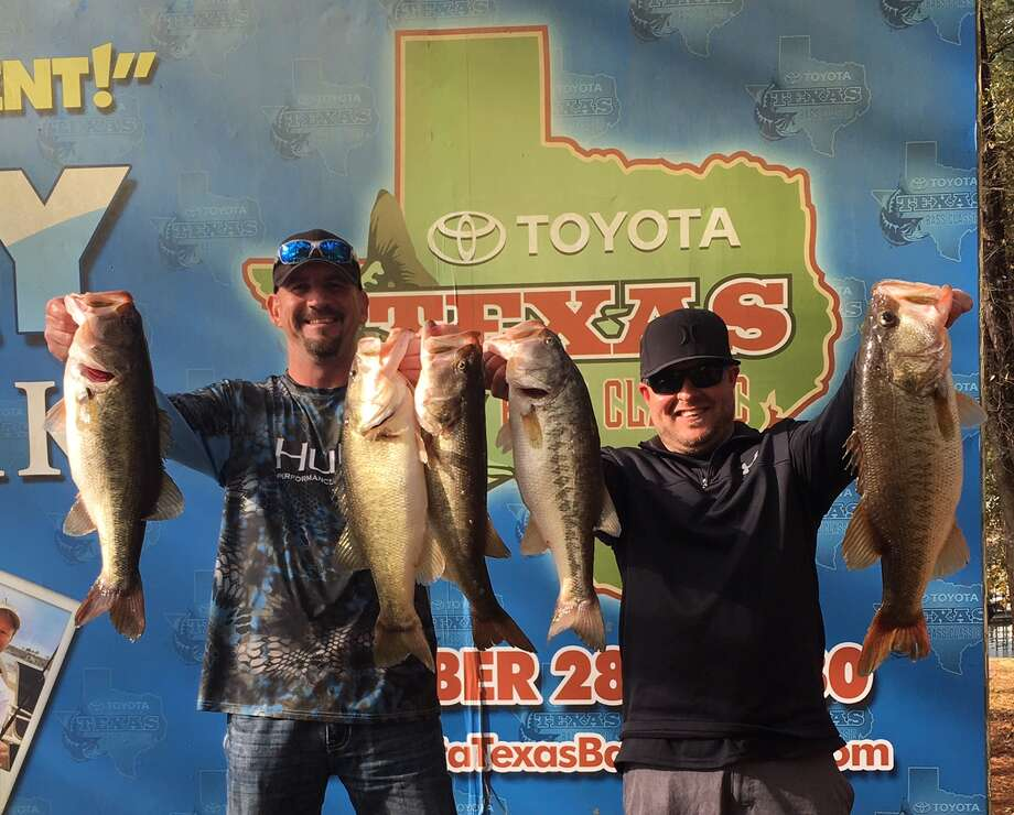 Julian Clepper and Tony Murray win the CONROEBASS  Weekend Series with a total stringer weight of 24.63 pounds. Photo: Conroe Bass