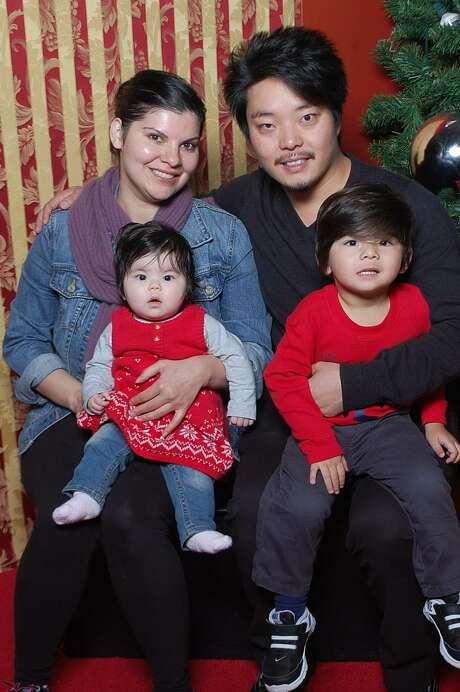 Shi Yan Feng with his wife Natasha Yuan, their daughter Alina and son Henry. Photo: Natasha Yuan
