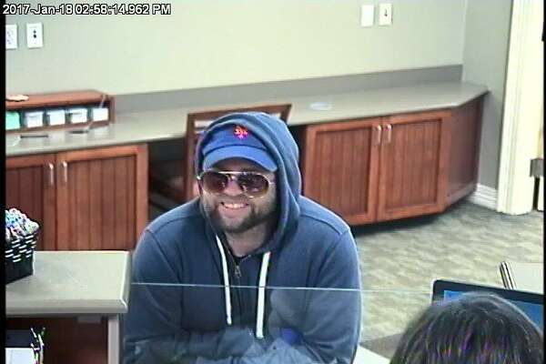 Surveillance photo of a man police believe stole money from the Union Savings Bank, 126 North Street, Wednesday afternoon.