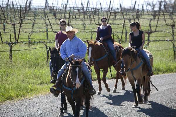 Rafael Hernandez leads trail rides at Chalk Hill Estate.  Credit: Chalk Hill Estate