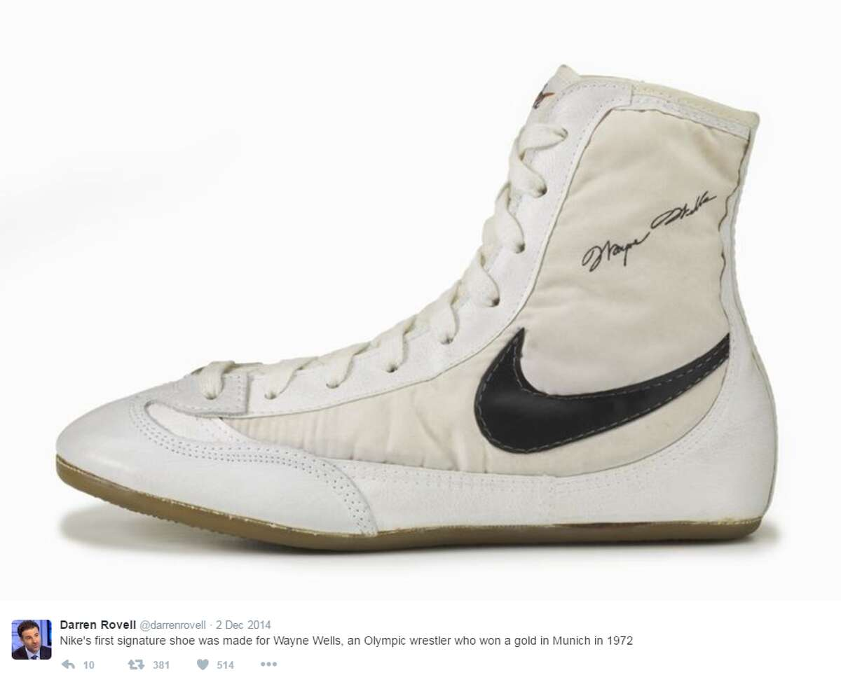 12. Nike's first signature shoe - Wayne Wells Source: @Darrenrovell