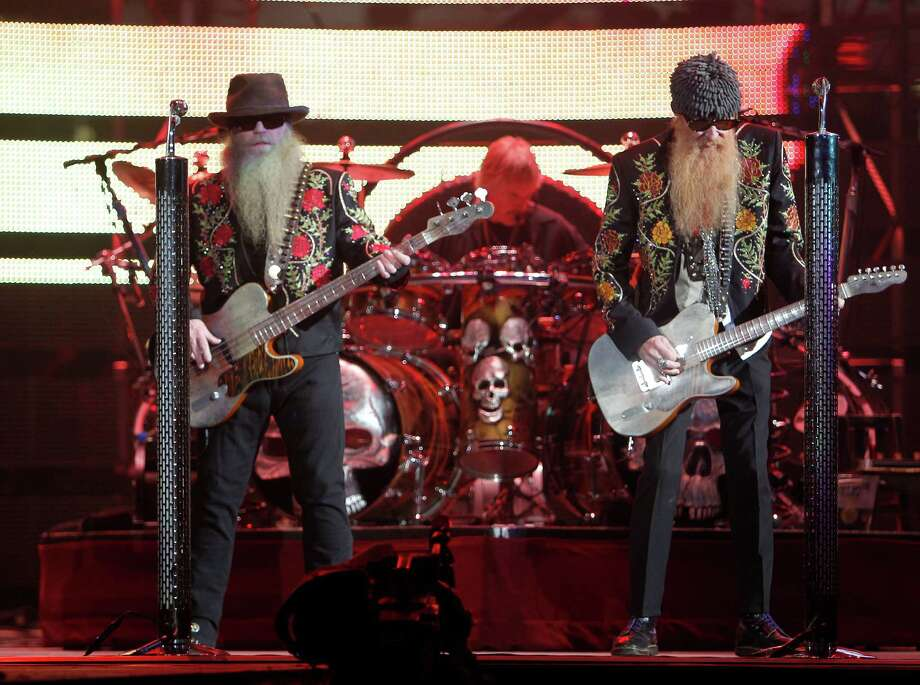 ZZ Top, playing the Houston Livestock Show and Rodeo in 2012. (For some pretty great photos of ZZ Top through the ages, scroll through the slideshow.) Photo: James Nielsen, Staff / © 2011 Houston Chronicle