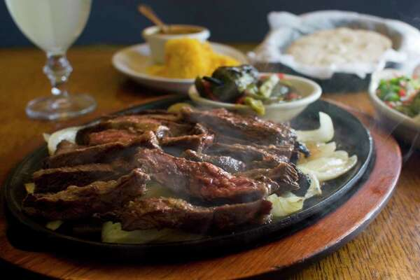 Marinated and grilled beef skirt steak fajitas at Ninfa's on Navigation.