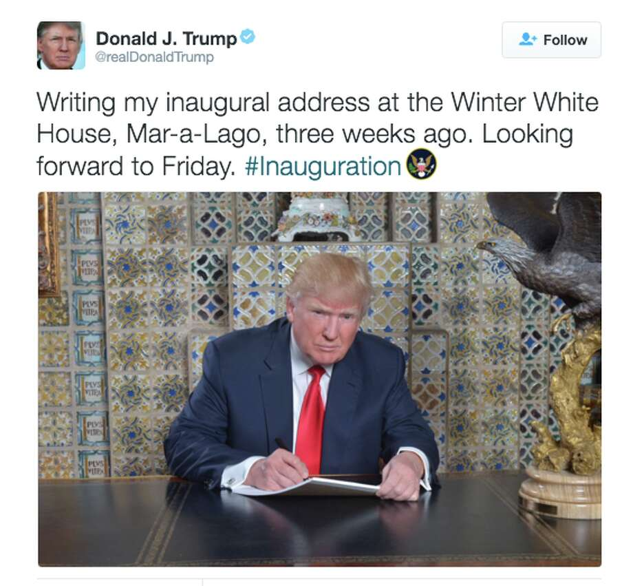 Trump tweeted this photo of himself earlier today, and Twitter trolls were quick to mock the president-elect with a series of memes.