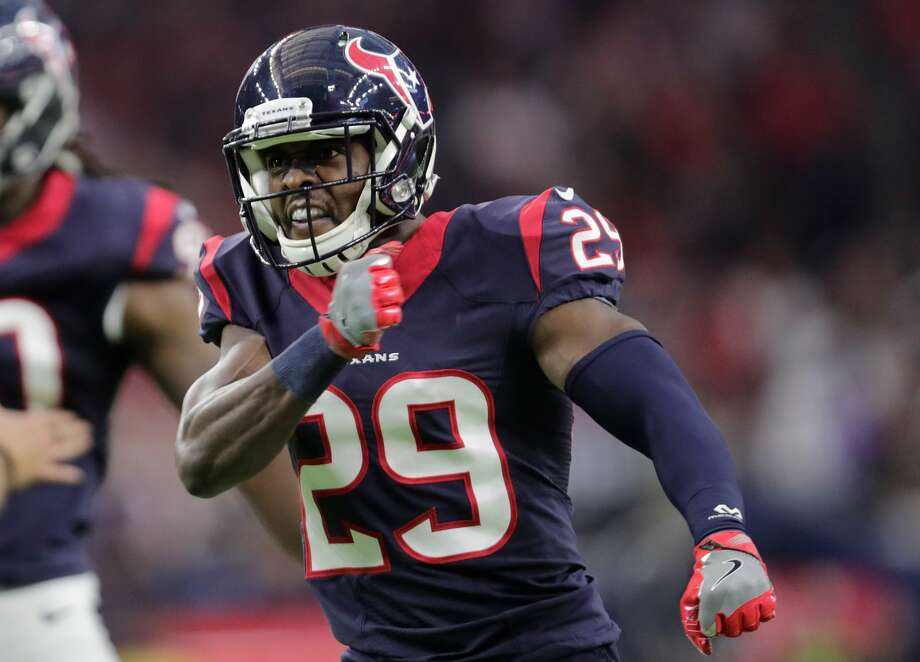 PHOTOS: Andre Hal on and off the field HOUSTON, TX - JANUARY 07:  Andre Hal #29 of the Houston Texans celebrates a tackle during the first half of the AFC Wild Card game against the Oakland Raiders at NRG Stadium on January 7, 2017 in Houston, Texas.  (Photo by Tim Warner/Getty Images) Photo: Tim Warner/Getty Images