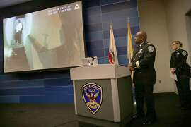 Interim police chief Tony Chaplin held a press conference releasing footage from SFPD officers Kenneth Cha and Colin Patino during their altercation with 42 year old Sean Moore earlier this month released on Wednesday, January 18, 2017, in San Francisco, Calif.