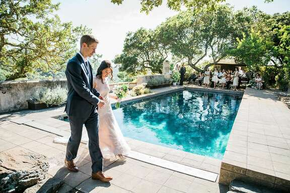 For their June 26 Napa wedding, they easily agreed on the private venue. Trish�s mother helped make traditional dishes from their Burmese heritage using family recipes for the post-ceremony dinner. Adam�s mother, known for her baking prowess, made the tiered cake; his father officiated.