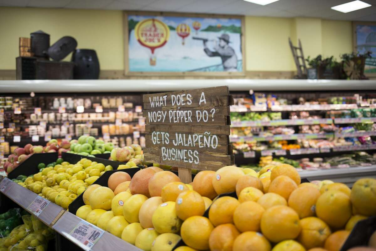 Grocery chain Trader Joe's is instantly recognizable. Quirky and witty signs are spread throughout the store, enticing customers. Scroll through the photos to see which items are favorites with customers.