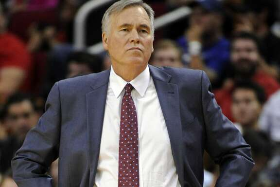 Houston Rockets coach Mike D'Antoni watches from the sideline during the second half of the team's NBA basketball game against the Milwaukee Bucks, Wednesday, Jan. 18, 2017, in Houston. Houston won 111-92. (AP Photo/Eric Christian Smith)