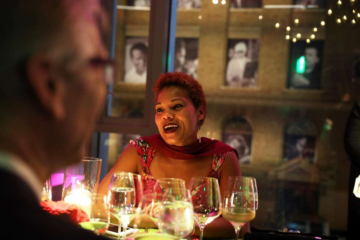 Michelle Hudson during dinner at SFJazz Gala honoring percussionist Zakir Hussain in San Francisco, Calif., on Wednesday, January 18, 2017.