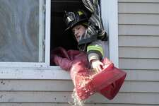 Fire broke out at a home on Cook Street in Danbury Monday morning, Thursday, January 19, 2017.