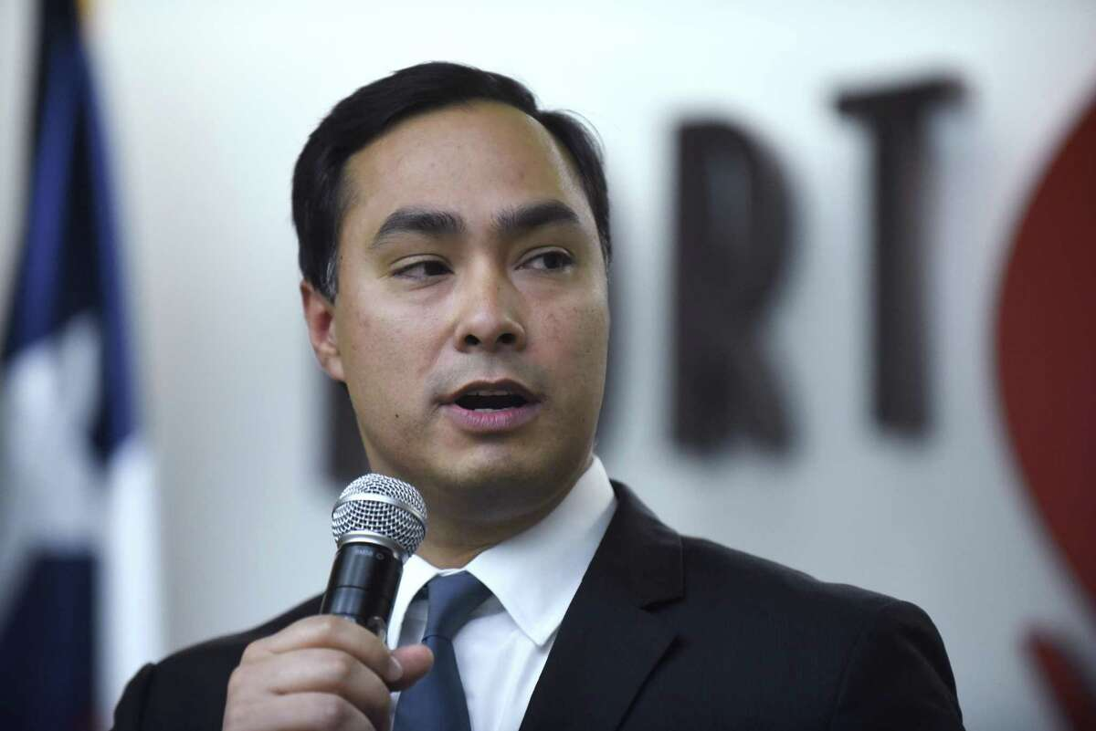 U.S. Rep. Joaquin Castro speaks during an event celebrating the 100th anniversary of the founding of Kelly Field, which later became Port San Antonio, on Jan. 18, 2017. Castro said in an interview with Buzzfeed Wednesday that he is considering a run against Sen. Ted Cruz in 2018.
