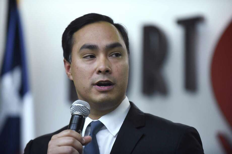 U.S. Rep. Joaquin Castro speaks during an event celebrating the 100th anniversary of the founding of Kelly Field, which later became Port San Antonio, on Jan. 18, 2017. Castro said in an interview with Buzzfeed Wednesday that he is considering a run against Sen. Ted Cruz in 2018. Photo: Billy Calzada, Staff / San Antonio Express-News