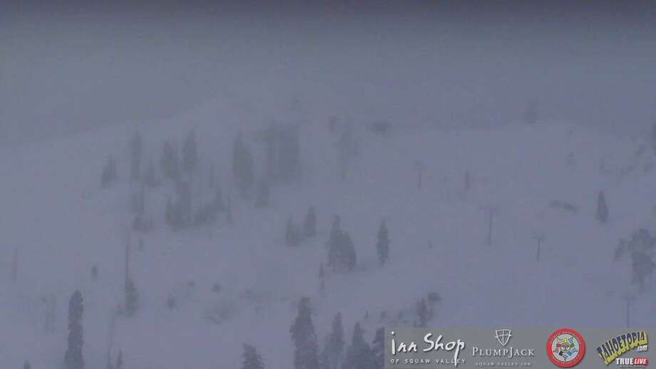 The conditions at Squaw Valley base camera on January 19, 2017. Photo: Tahoetopia.com