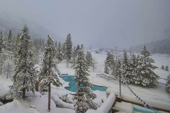 The conditions at Squaw Creek Valley at on January 19, 2017.