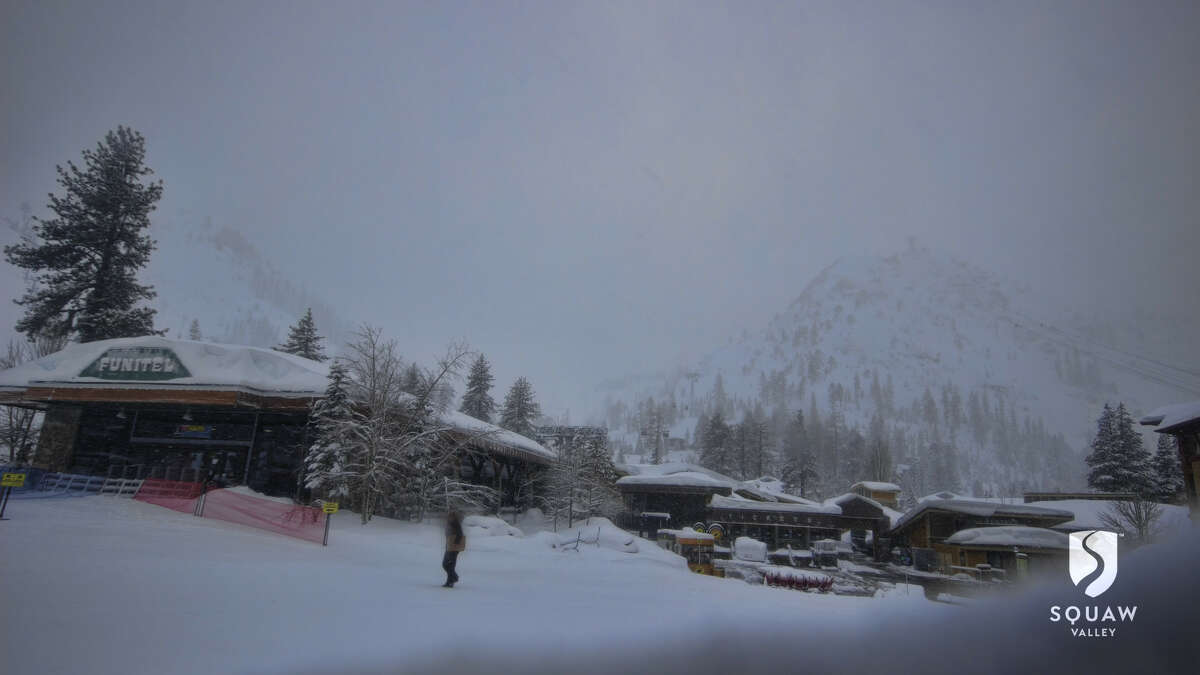 The conditions at Squaw Valley base camera on January 19, 2017.