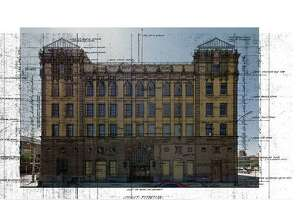 The front elevation of the Light building.