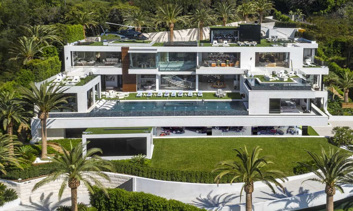Luxury developer Bruce Makowsky's Bel Air mansion built on spec is the most expensive home on the U.S. real estate market.