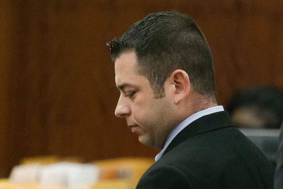 Andrew Sustaita Jr., a former Harris County Sheriff's deputy is shown in Harris County Criminal Court, Thursday, Jan. 19, 2017. Sustaita, a 6-year law enforcement veteran, is accused of producing pornography depicting bestiality and is facing three more felonies after police said a forensic search of his home computer turned up more than 200 images of child pornography, including images of sexual contact with a dog. Photo: Melissa Phillip/Houston Chronicle