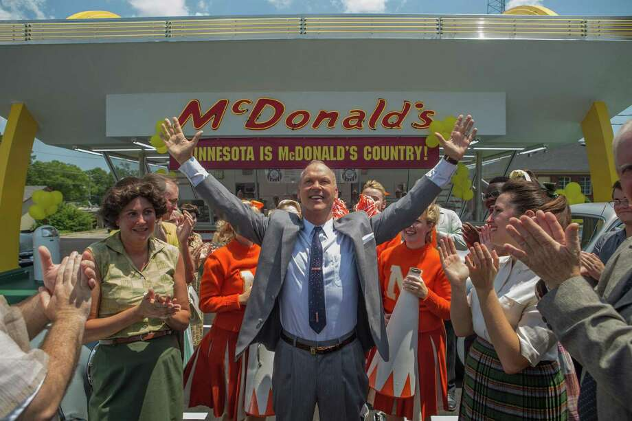 """Michael Keaton (center) portrays Ray Kroc in """"The Founder,"""" which is about the formation of the McDonald's franchise. Photo: The Weinstein Co. / © 2016 The Weinstein Company.  All Rights Reserved."""