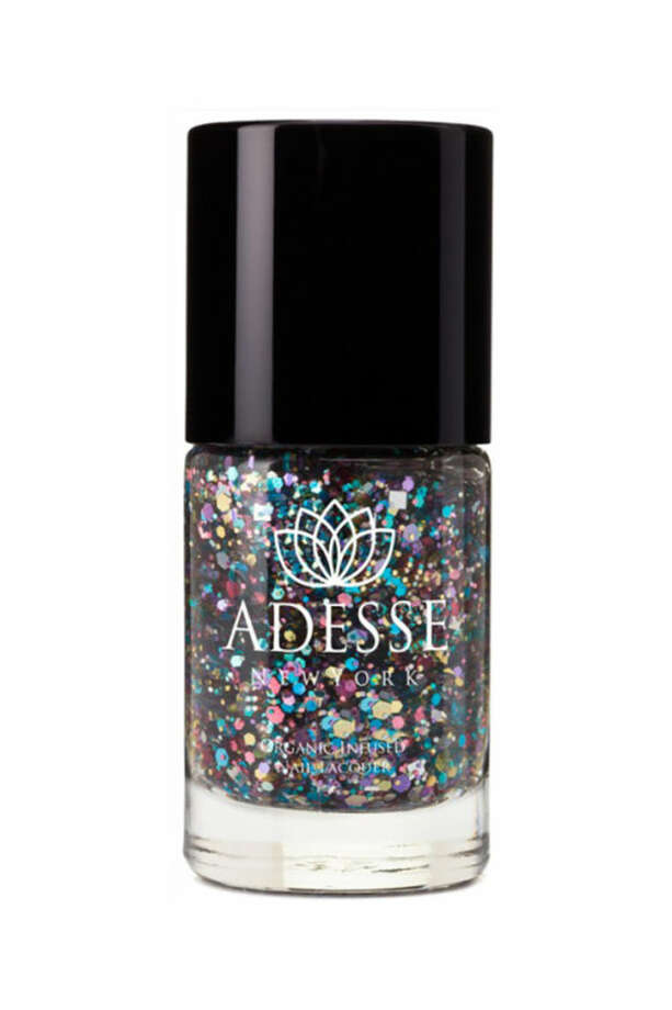 Adesse New York Glitter Collection Nail Lacquer in Carnivalesque $20 BUY NOWMaybe your New Year's celebrations are less modish and more Mardi Gras. Adesse's color-packed polish is, indeed, Carnivalesque, putting a fashion-forward spin on organized chaos. Pair the busy pigment with a solid black mini, or match with a sequined top or skirt if you're really feeling over the top.