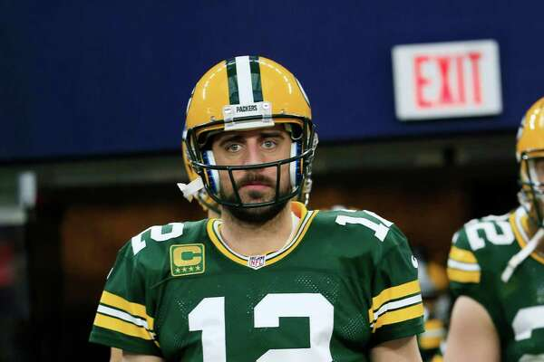 Green Bay Packers' Aaron Rodgers is seen before an NFL divisional playoff football game against the Dallas Cowboys Sunday, Jan. 15, 2017, in Arlington, Texas. (AP Photo/Ron Jenkins)
