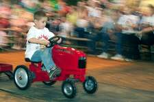 The kids pedal tractor pull is making its debut at the rodeo in 2017.