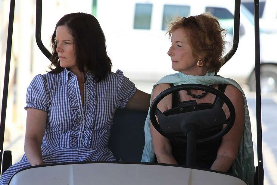 """In """"Saltwater,"""" Jenny (Sally Clawson, left) discovers family secrets from Aunt Vera (Joan Marie Grant). Photo: SF IndieFest"""