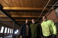 From left; Owners John Walsh, of Orange, and brothers Bill and Mark daSilva, of Shelton, are working to open their Bad Sons Beer Company brewery and tasting room at 249 Roosevelt Drive in Derby, Conn. on Wednesday, January 18, 2017.