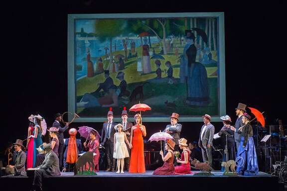 Jake Gyllenhaal, Zachary Levi and Phylicia Rashad joined Carmen Cusack (center, with umbrella) for a 2016 concert performance of �Sunday in the Park with George� at New York City Center.