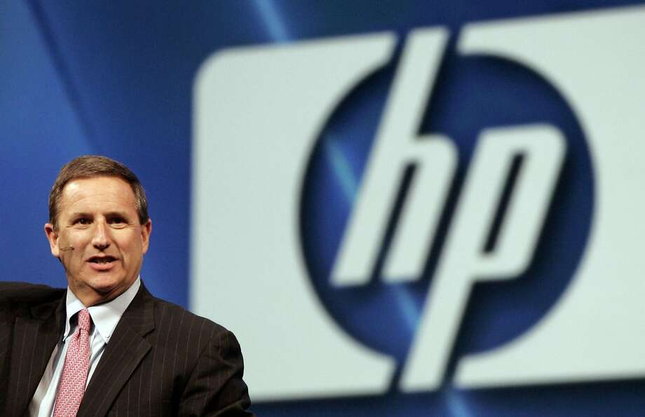 In this file photo made Nov. 19, 2007, Hewlett-Packard CEO Mark Hurd speaks at the Oracle World Conference in San Francisco. Hurd was forced to resign Aug. 6, 2010, after HP's board of directors accused him of falsifying expenses. (AP Photo/Paul Sakuma, File) Photo: Paul Sakuma, AP