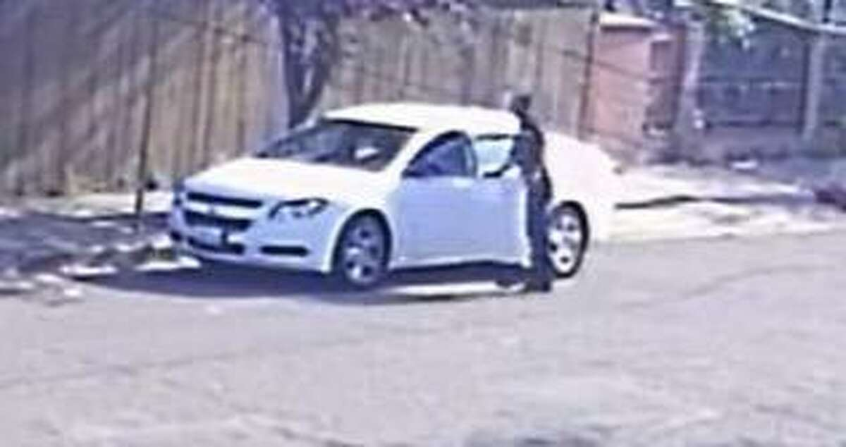 A wanted homicide suspect entering a car, police said. Oakland police are searching for the suspect.