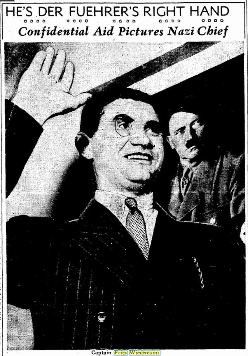 Fritz Wiedemann, once considered Adolf Hitler's right-hand man, lived in the Nazi Consulate in San Francisco, prior to the bombing of Pearl Harbor.