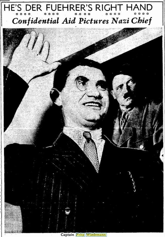 Fritz Wiedemann, once considered Adolf Hitler's right-hand man, lived in the Nazi Consulate in San Francisco, prior to the bombing of Pearl Harbor. Photo: San Francisco Chronicle Archives