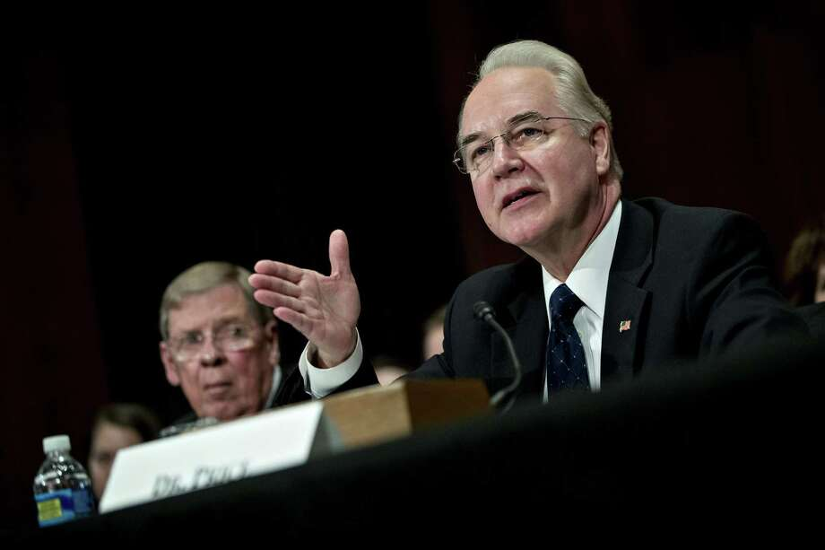 U.S. Rep. Tom Price, (R-Ga.) Georgia during a Jan. 18, 2017 confirmation hearing as White House nominee for the post of secretary of the U.S. Department of Health and Human Services. Photographer: Andrew Harrer/Bloomberg Photo: Andrew Harrer / Bloomberg / © 2017 Bloomberg Finance LP