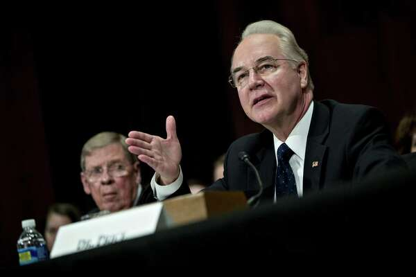 U.S. Rep. Tom Price, (R-Ga.) Georgia during a Jan. 18, 2017 confirmation hearing as White House nominee for the post of secretary of the U.S. Department of Health and Human Services. Photographer: Andrew Harrer/Bloomberg