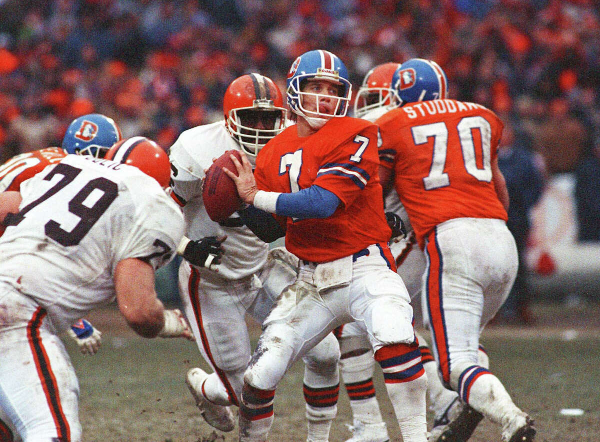 AFC, 1986: BRONCOS 23, BROWNS 20 (OT) The legend of John Elway was born on this dreary day in Cleveland. Down 20-13 with 5:43 left and the ball on his 2-yard line, Elway led the Broncos on what became known as