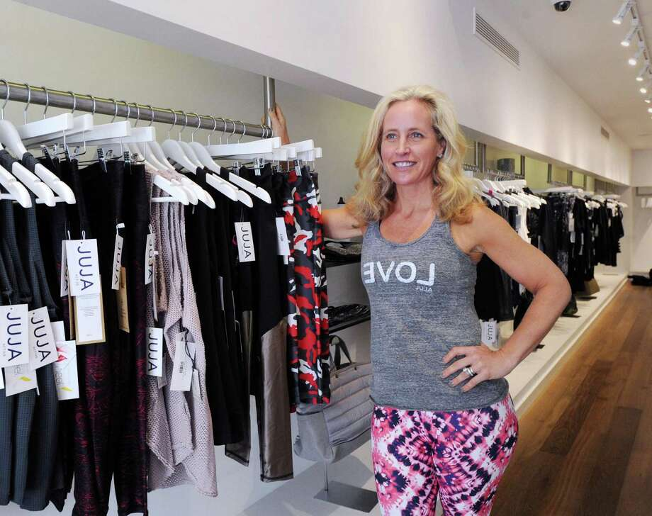 Jen Russo the founder and chief executive officer of Juja Active stores, at her recently opened Greenwich store that specializes in curated activewear for girls and women at 160 Greenwich Ave., Greenwich, Conn., Friday, Nov. 11, 2016. Photo: Bob Luckey Jr. / Hearst Connecticut Media / Greenwich Time
