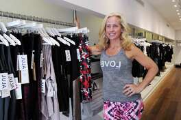 Jen Russo the founder and chief executive officer of Juja Active stores, at her recently opened Greenwich store that specializes in curated activewear for girls and women at 160 Greenwich Ave., Greenwich, Conn., Friday, Nov. 11, 2016.
