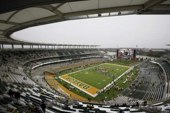 A nearly empty McLane Stadium is seen minutes before kickoff between Iowa State and Baylor in Waco on Oct. 24, 2015.