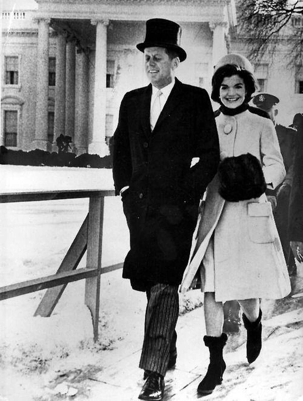President John F. Kennedy and first lady Jacqueline Kennedy on Inauguration Day, Jan. 20, 1961.