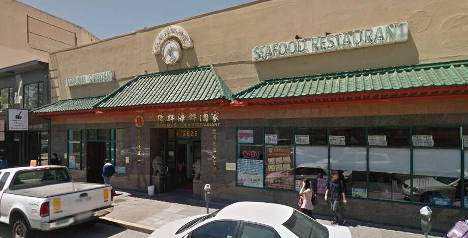 San Francisco health inspection scoresImperial Garden Seafood Restaurant (2626 San Bruno Ave.)Score: 66Violation notes: Unclean or unsanitary food contact surfacesDate: Jan. 4, 2017(Violation corrected Jan. 13, 2017) Photo: Google Maps