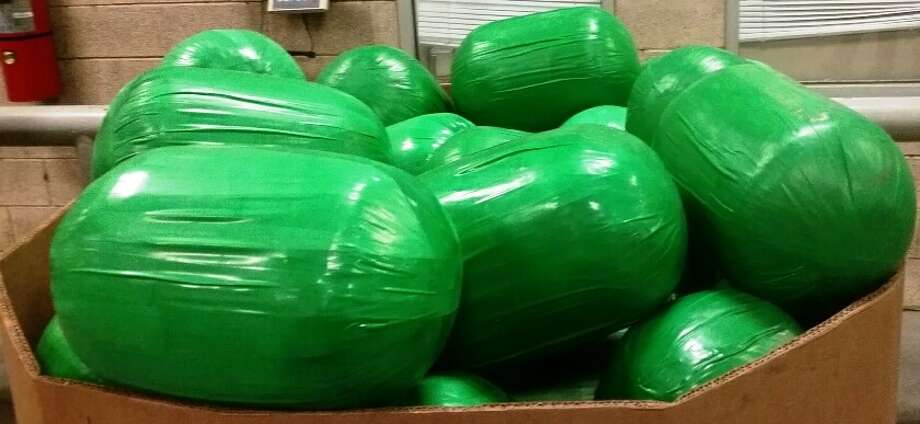 Texas border officials on Tuesday seized 3,000 pounds of marijuana that smugglers tried to disguise inside a shipment of watermelons. Photo: U.S. Customs And Border Patrol