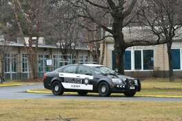 Police responded to a bomb threat at the Albany Jewish Community Center on Whitehall Road on Wednesday, Jan. 18, 2017. (Will Waldron/Times Union)