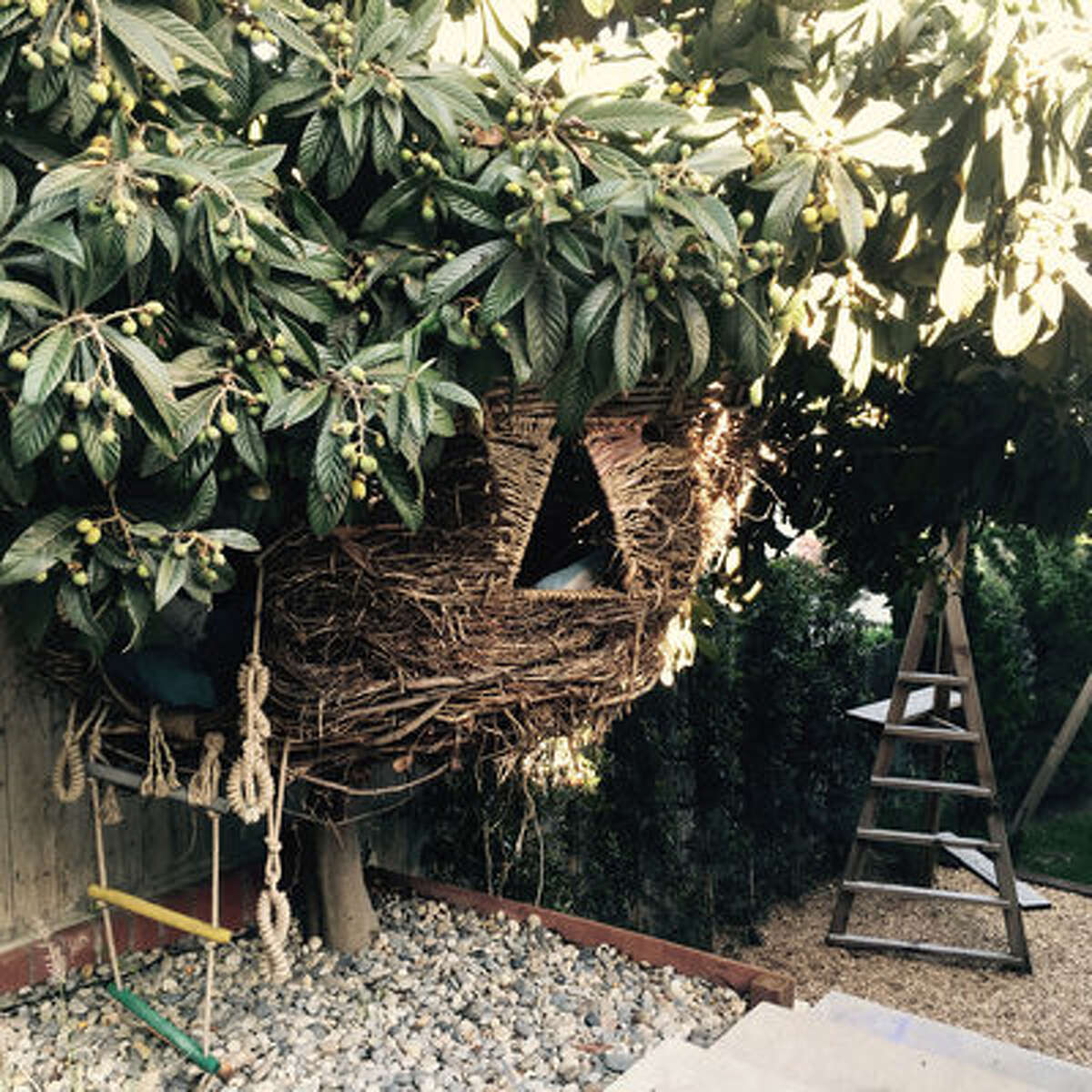Backyard willow nest As an East Coast native, Sari Lehrer had one opinion when it came to backyards: