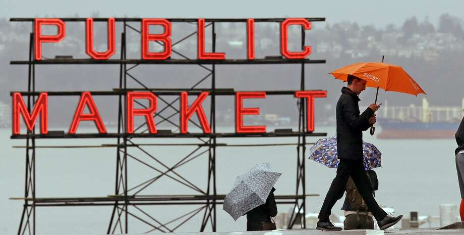 It's official: Seattle has had the wettest October through April in recorded history. Photo: Elaine Thompson/AP