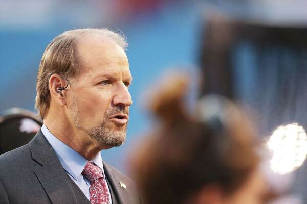 ORCHARD PARK, NY - SEPTEMBER 15:  Bill Cowher talks on the field before the game between the Buffalo Bills and the New York Jets at New Era Field on September 15, 2016 in Orchard Park, New York.  (Photo by Brett Carlsen/Getty Images) ORG XMIT: 659205269 ORG XMIT: MER2017011918103600