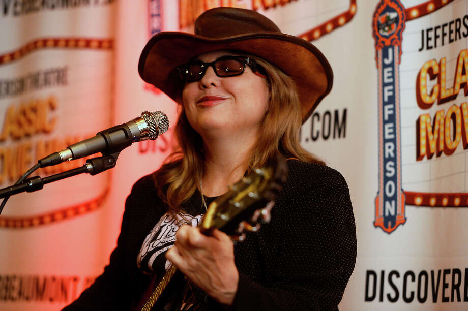"""Glenna Bell performs at the Jefferson Theatre's showing of """"Janis: Little Girl Blue,"""" a biographical film on Port Arthur native Janis Joplin. Bell was born in Beaumont but now lives in Houston.  Photo taken Thursday 1/19/17 Ryan Pelham/The Enterprise Photo: Ryan Pelham / ©2017 The Beaumont Enterprise/Ryan Pelham"""